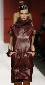 cordovan leather dress--Etienne Aigner