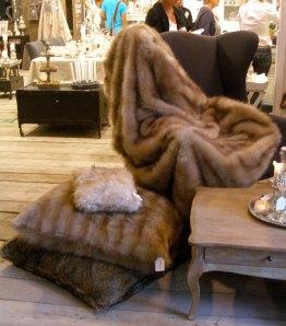 Fur Throw and Pillows at Maison et Objet 2010 in Paris