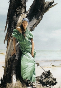 SUMMER/TRANS 2012 Trend Direction -- Island Life (model mint on beach)