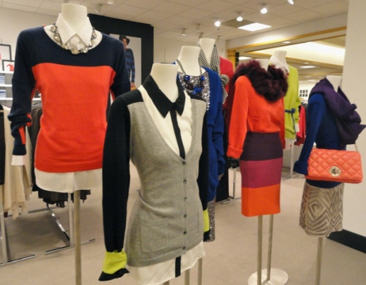 In Stores Fall 2012: Shopping Chicago - Color Blocking